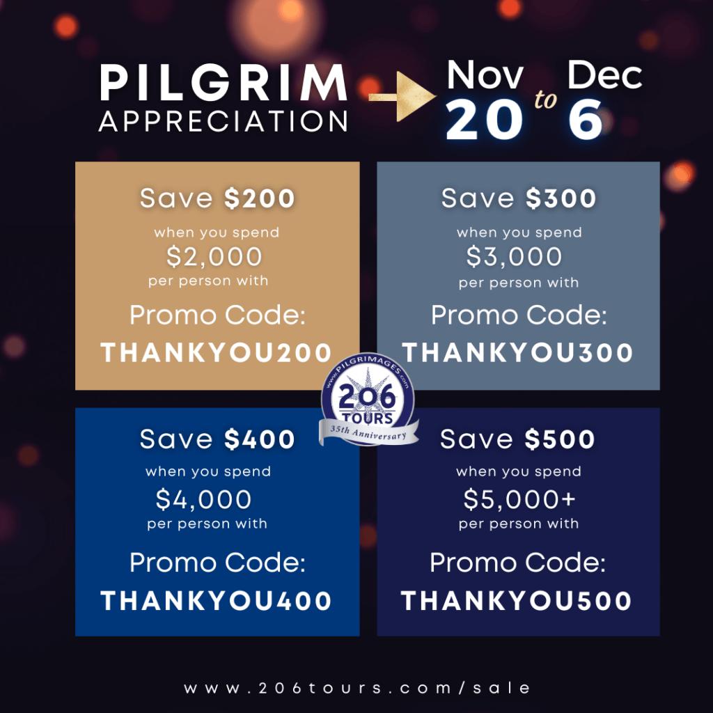 206tours-pilgrim-appreciation-discount