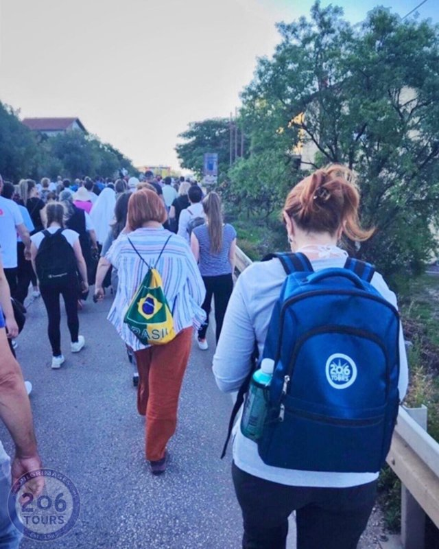 Today, on the 39th Anniversary of Our Lady's Apparitions, our dear Slavenka walked 10 miles, carrying YOUR intentions on her back!  The 10-mile Peace March started in the shrine of St Anthony, Humac, where the group prayed for peace while walking to Medjugorje. Slavenka believes the March had even more people today, than the last year.  Our guides prayed for peace in their hearts, families, and the world.  VIDEOS: Check our Facebook page for exclusive video footage of the Peace March, and see all your intentions get presented to visionary, Ivan Dragicevic! All videos can also be found at the link in our bio!  Have you enjoyed our Novena in Medjugorje: Virtual Pilgrimage?