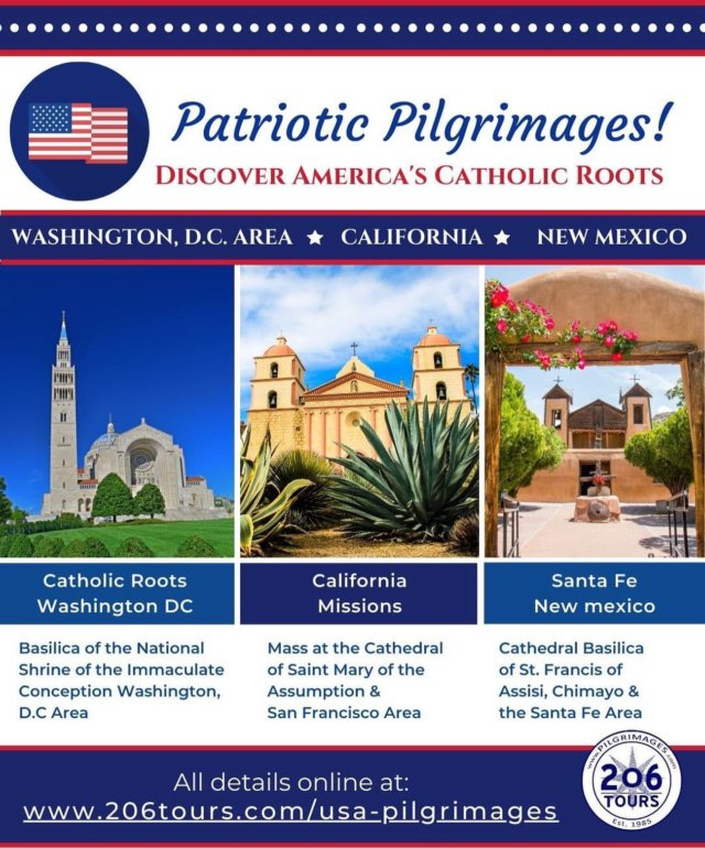 Hope you all had a safe and Happy 4th of July! Feeling patriotic? Take a look at our new American Pilgrimage Itineraries!  206tours.com/usa-pilgrimages