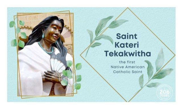 Today is the Feast Day of Saint Kateri Tekakwitha!  BLOG ➡️ 206tours.com/cms/blog/saint-kateri-tekakwitha/