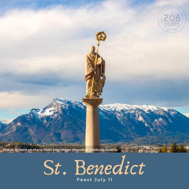Today, the Roman Catholic Church recognized the Feast of Saint Benedict of Nursia, the Patron Saint of Europe!   St. Beneditc, Pray for Us!   Visit Salzburg: 206tours.com/tour187