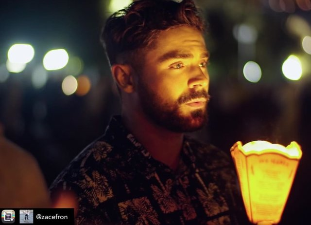 "Have you watched? #ZacEfron shining light, and carrying the light, on #Lourdes in the new documentary ""Down To Earth""  #repost from @zacefron"