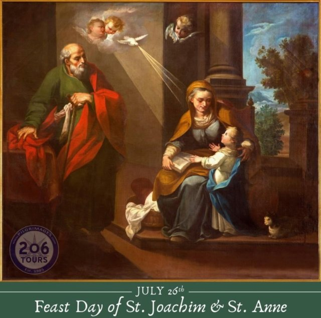 Blessed Feast of St. Joachim and Anne, parents of the Blessed Virgin Mary, and Grandparents of Our Lord Jesus Christ. Patron Saints of Grandparents, Pray for Us!  #GodBlessGrandparents