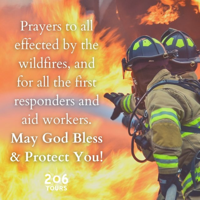 Please join us in praying for all those effected by the wildfires. May God Bless & Protect all!