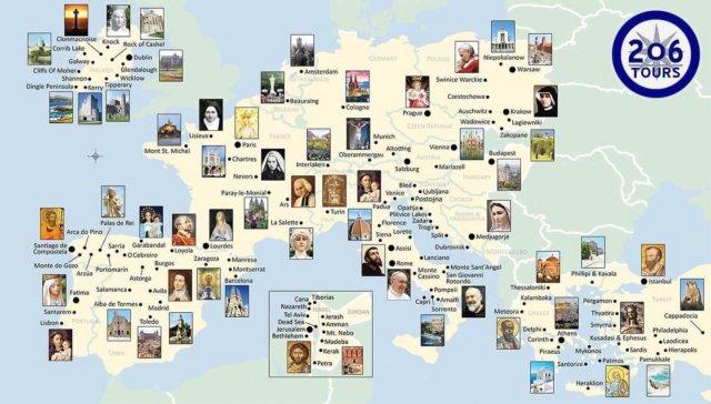 How many of these Catholic Sites have you visited?   206tours.com/map  #catholicpilgrim #catholictravel #pilgrimage #catholicpilgrimage