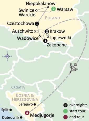 Czestochowa Poland Map.Poland Medjugorje 206 Tours Catholic Tours