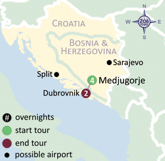 how to get to medjugorje from dubrovnik