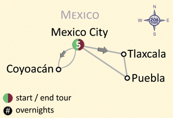 Pilgrimage to Mexico City & Guadalupe Map