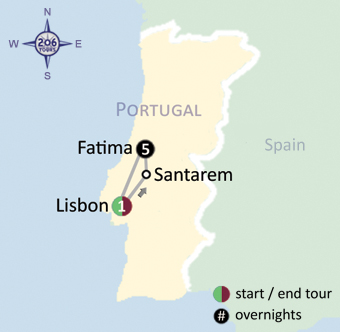 Knights Watchmen For Christ Pilgrimage To Fatima With Tours - Portugal map fatima