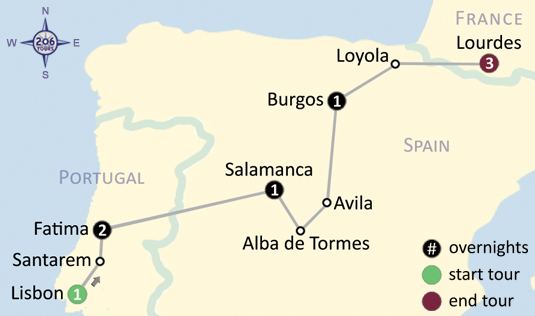 Loyola Spain Map.Catholic Pilgrimage To Fatima Spain Lourdes Medjugorje With Fr