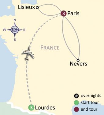 Catholic Pilgrimage to Lourdes, Lisieux, Nevers, & Paris ...