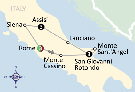 San Giovanni Rotondo Italy Map.St Padre Pio 50th Anniversary Pilgrimage To Italy 206 Tours