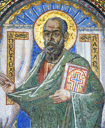 Mosaic of Saint Paul Greece