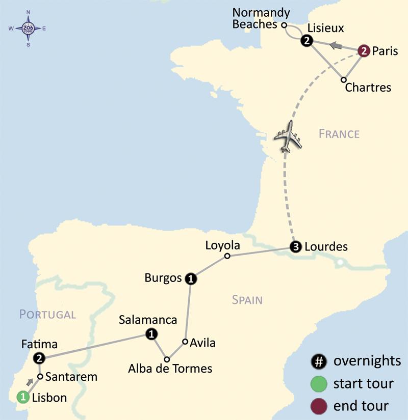 Fatima Spain Lourdes Paris 206 Tours Catholic Tours